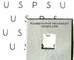 Washington-Franklin Watermark Cutout