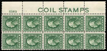 """The """"COIL STAMPS"""" Sheet Stamps of 1914"""