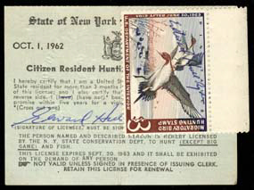 Duck Stamp and Hunting Permit