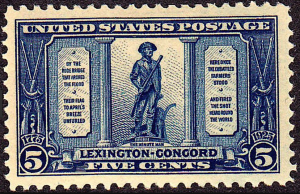 The 5¢ Lexington Concord